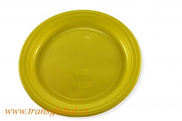 Talíř PS 22cm žlutý (10ks)