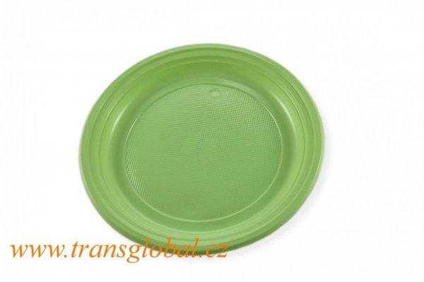Talíř PS 22cm žlutozelený (10ks)