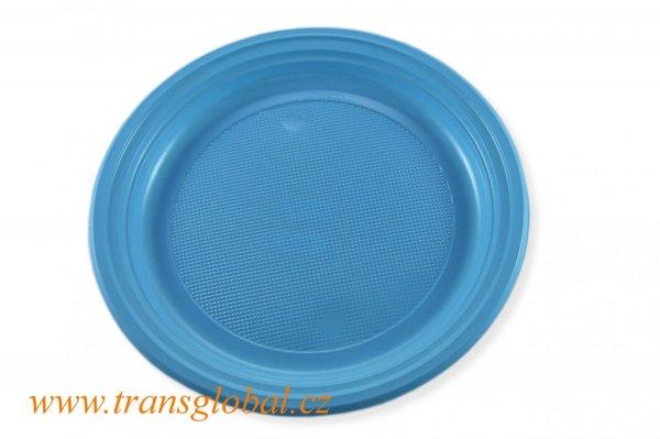 Talíř PS 22cm světle modrý (10ks)