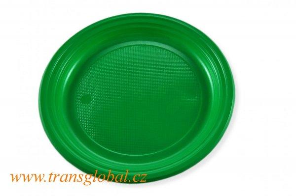 Talíř PS 22cm zelený (10ks)