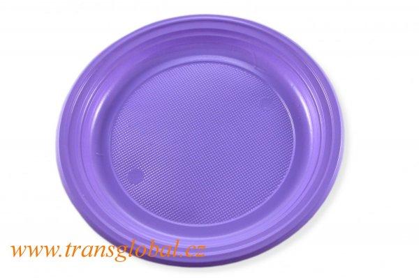 Talíř PS 22cm světle fialový (10ks)