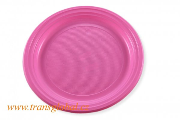 Talíř PS 22cm růžový (10ks)