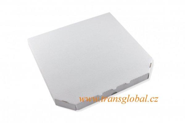 Krabice pizza 24x24x3,5 cm MVL bílá
